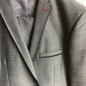 Men's Italian Black/Grey Suit